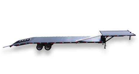 Car Trailers in One, Two, Three, and Four Car Capacities by