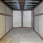interior of tandem axle trailer