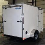 white trailer rear view