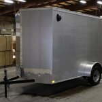 front of single axle trailer