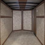 interior of silver single axle trailer