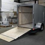 rear of single axle trailer