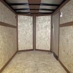 interior of single axle trailer