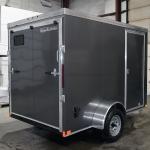 rear of grey single axle trailer