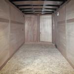 interior of light duty single axle trailer