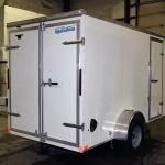 rear of white trailer