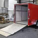 rear of red trailer