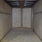 interior of blue trailer