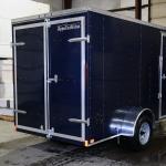 rear of blue trailer