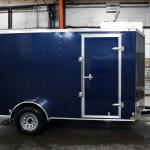 side of blue trailer