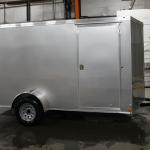 single axle silver trailer