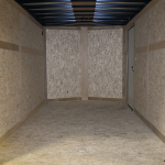 interior of tandem axle contractor grade trailer