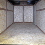 interior of contractor grade tandem axle trailer