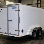 white tandem axle light duty trailer