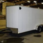 white tandem axle trailer