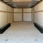 8.5' X 16' Tandem Axle Trailer Standard Duty interior