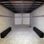 interior of tandem axle trailer
