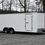 Side of white trailer